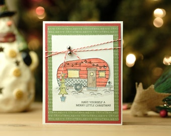Camper Christmas Card 5-pack (identical)