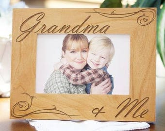 Personalized Grandma and Me Picture Frame Custom Name Gift