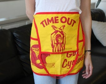 Vintage Iowa State University Tailgate Grilling Apron
