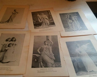 Lot of 16 phototype engravings 6x8 ephemera collector collage decor