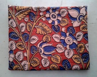 FABRIC/cotton/KALAMKARI print/Hand printed/Block Print/110 x 90 cm/Boho/Boheme/70'/Made in India/Free Shipment