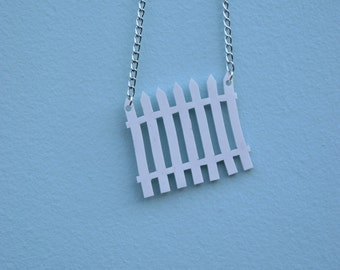 Wonky Picket Fence Necklace