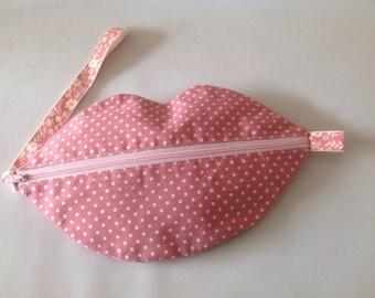 Lip Wristlet  purse