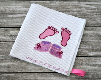Kitchen Towel - Personalized Towel ~Hand Towel~ Embroidered Towel - baby towel
