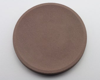Round top in Brown concrete / / empty Pocket concrete / / decorative concrete tray / / concrete tray / / cast-iron serving tray