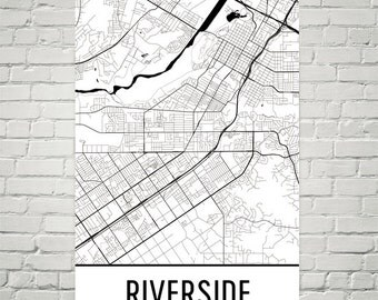 Riverside Map, Riverside Art, Riverside Print, Riverside CA Poster, Riverside Wall Art, Riverside Poster, Riverside Gift, Riverside Decor