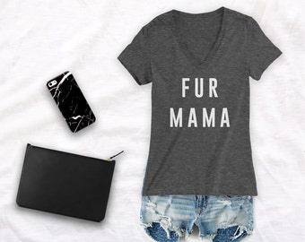 fur mama Shirt dog mom shirt dog mama shirt dog life I want all the dogs shirt fur mom shirt dog life shirt Dog Obsessed - Deep V Neck