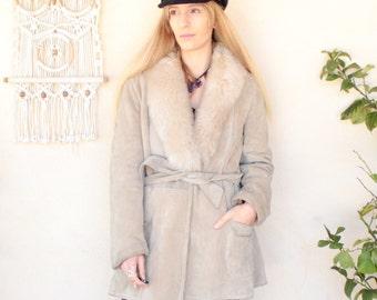 Vintage 70's Penny Lane Suede Coat