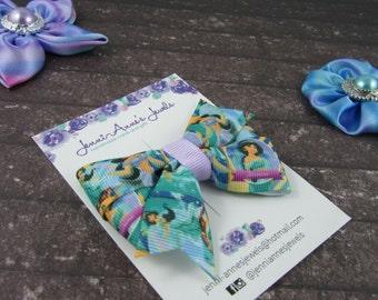 Pinwheel Hair Bow Clip - Jasmine Aladdin