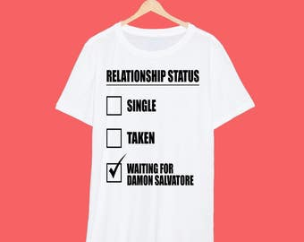 Damon Salvatore 'Relationship' Vampire Diaries T Shirt