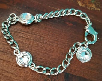 Swarovski Stainless Steel Chain Bracelet