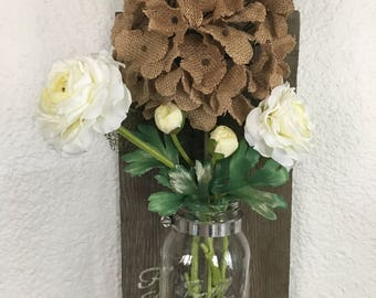 Fresh Cut silk flower wall decor