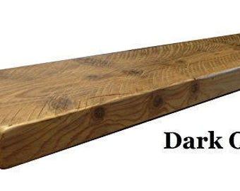 Wooden shelf Handcrafted solid wood Floating shelf in fiddes wax finish