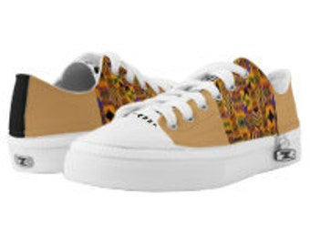 UProSquad Canvas Lo Top Kente Shoes