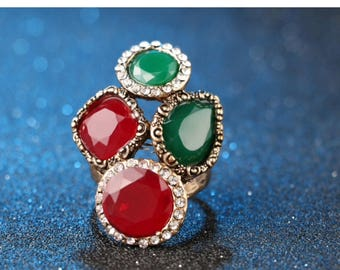 Vintage Turkish fashion ring for women