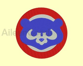 Chicago Cubs Embroidery design 5 Size  INSTANT download machine embroidery