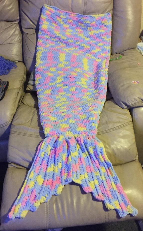 Childrens mermaid snuggle sack blanket age 5-8