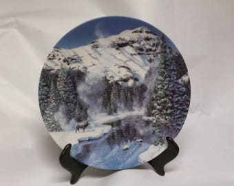 """Collectors plate """"Winter peace in Yellowstone Park"""""""