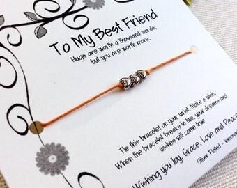 Best Friend Birthday Gift Best Friend Bracelet Best Friend Gift Best Friend Gifts Gift Best Friend BFF Wish Bracelet