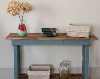 Rustic Sofa/Foyer Table, Farmhouse Table, Pallet Wood, Rustic Furniture,  Rustic
