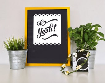 20x30cm - oh yes! print digigraphie - 210 gr watercolor paper - clean graphics