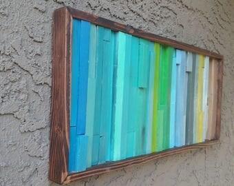 Free shipping, wall art, rustic wood sculpture, Reclaimed wood art, beach wood Art, Rustic wood, Handmade item, back yard, barn, summer