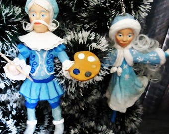 Cotton toys - Uncle Frost and girl Winter