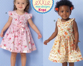 Ribbons & Ruffles Childs' Dress Patterns by Ellie Mae Designs