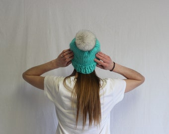 100% Wool Marmot Toque- Slouchy
