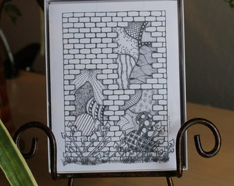 """MADE TO ORDER - 4 1/4"""" x 5 1/2"""" Blank Notecards with envelopes - From My Originial Zentangle Art."""