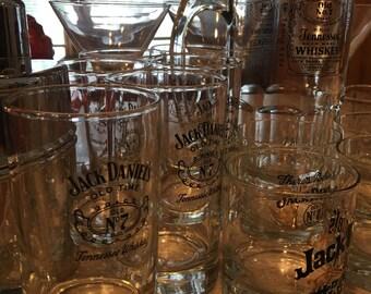 12 Piece Jack Daniels Collectible Glass Set, Jack Daniels Old no.7 Wiskey Glasses, Wiskey Tumblers, Old Sour Mash Rock Glass, Rock Glass Set