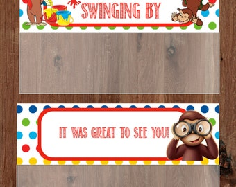 Curious George Treat Bag Topper / Party favor / DIY / Printable