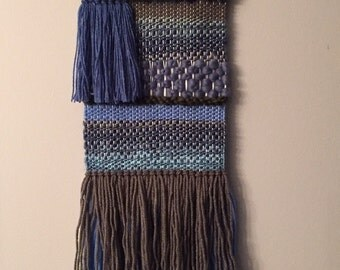 Soothing blue weave