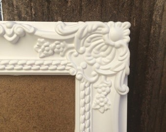 4x6, Bright White Picture Frame, French Country, Shabby Chic, Ornate, Baroque, Vintage Style, Home Decor, Wall Decor, Bridal Shower, Nursery