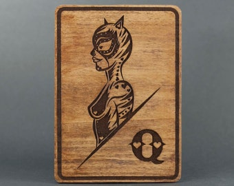 Catwoman Day of the Dead Card