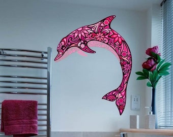 Abstract Pink Dolphin