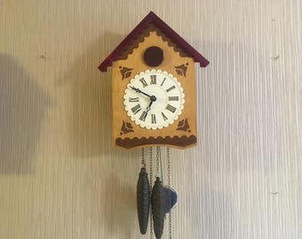 Vintage Soviet Cuckoo Clock Working Clock