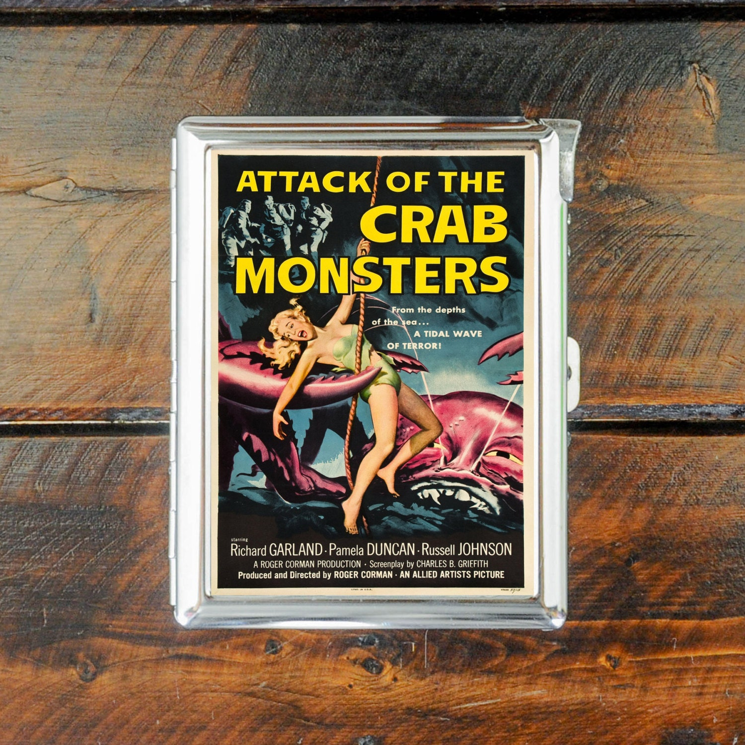 cigarette case MOVIE cinema poster attack of the crab monsters