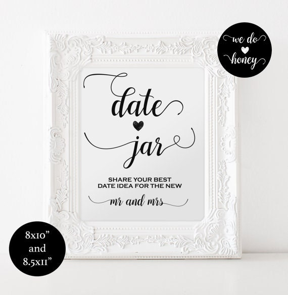 Date jar wedding printable sign
