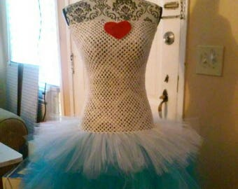 Adult or teen alice in wonderland costume tutu dress