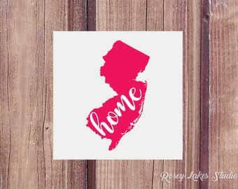 New Jersey, New Jersey Decal, State Decal, State Decals, Home, Home State, Car Decal, Vinyl Decal, Window Decal, Tumbler Decal, Decal, Gifts