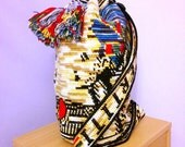 Nefertiti Crochet Bag OOAK Big Shoulder Bag Wayuu Mochila Style Cozy Solid