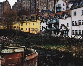 Dean Village, Edinburgh, Scotland, Scottish Photography, Scotland Prints, Wall Art