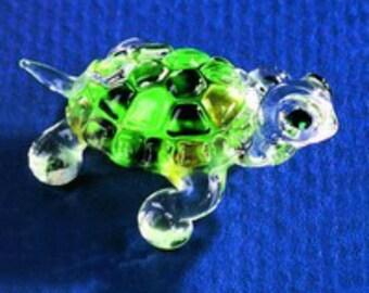 Glass Baron Green Turtle Figurine