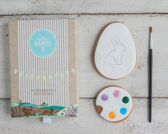 Easter Egg Biscuits - Easter Cookie Set - Easter Gifts for Kids - Decorate Your Own Easter Biscuits - Paint Your Own Easter Eggs