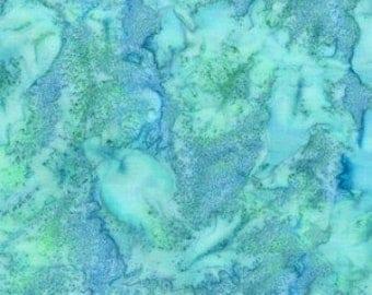 Batik Fabric by Hoffman Fabrics 1895-271 Parakeet - Bali Hand Dyed Beautiful Designer Cotton Batiks Water Ocean Watercolor -100% Quality Co