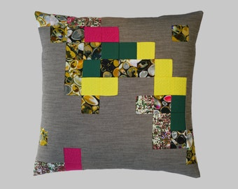 SALE 10% off * * patchwork Cushion cover / patchwork Cushion cover