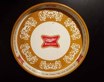 Miller High Life Metal Bar Tray