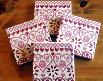 Emma Bridgewater Style Pattern Natural Stone Coaster