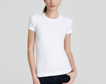 Blank t shirts etsy for Plain white tee shirt womens